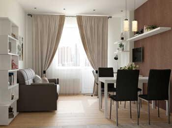 Отделка и меблировка комнаты в современном стиле